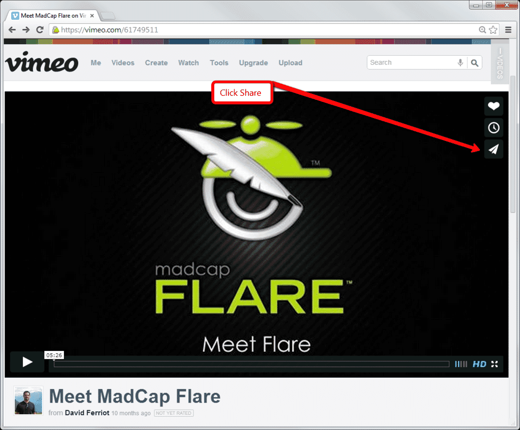 How to Embed a Vimeo Video into Your MadCap Flare Topic