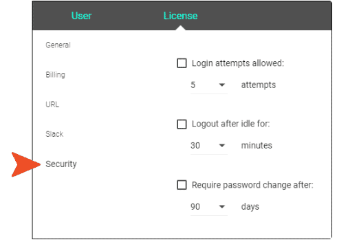 were to adjust your security options from top menu